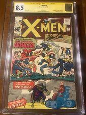 X-MEN #9 1/65 CGC 8.5 OWW SS STAN LEE! FIRST AVENGERS X-OVER! FIRST LUCIFER!