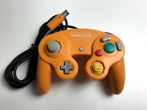 Nintendo GameCube Controller orange DOL-003 GC USED From JAPAN