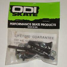 """ODI Hard Wear 1.5"""" Skateboard Longboard Fixations/Nuts & Bolts années Old School"""