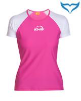 iQ UV 300 Shirt Loose Fit Ladies Damen XS S M L XL XXL white pink weiss rosa NEU