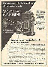 W9814 Voigtlander PROMINENT ultra perfezionato - Pubblicità del 1934 - Old ad