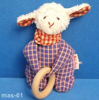 KÄTHE KRUSE SCHAF LAMM STOFFTIER 17 CM HOLZRING SHEEP