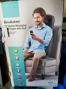 Brookstone C7 Shiatsu Massaging Seat Topper with heat