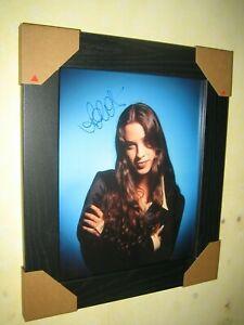 Alanis Morissette Gorgeous Hand Signed Photo (8x10) In  Lovely Black Frame + CoA