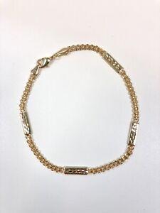 "NEW 14k Gold Filled Diamond Cut anklet Ankle Bracelet 10"" 6,7g, Pulsera del Pie"