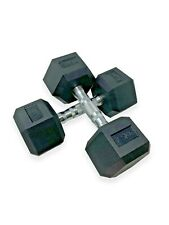 MuscleSquad Hex Rubber Dumbbells - 5kg to 30kg - Sold in pairs