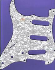 """LEFT HANDED """"STRAT"""" STYLE PICKGUARD/SCRATCHPLATE, WHITE PEARL/WH/BK, NEW"""