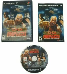 TNA Impact (Sony PlayStation 2) PS2 GAME COMPLETE TOTAL NONSTOP ACTION WRESTLING