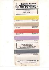 1958 PONTIAC CATALINA BONNEVILLE CHIEFTAIN 58 SPRING COLOR PAINT CHIPS SW 3