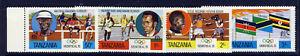 TANZANIA 1976 Montreal Olympic Games SG 182 to SG 185 MNH