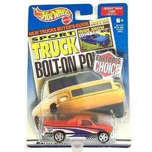 Hot Wheels Editor's Choice Dodge Ram 1500 Sport Pickup Truck Orange 1/64 Scale
