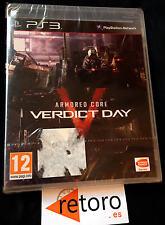 ARMORED CORE V 5 VERDICT DAY PS3 PlayStation 3 PAL Español NUEVO Precintado