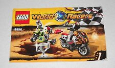 LEGO WORLD RACERS 8896 libretto Instruction Manual Booklet Only MANUALE