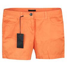 PRADA women's fitted orange cotton jeans summer short shorts 40-IT/4-US NEW