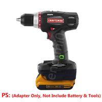 Craftsman 19.2V Cordless Tools Adapter Uses Dewalt 20V Slider Li-ion Batteries