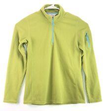 Orvis Trout Bum Women's Size M Waffle Fleece Green 1/4 Zip Pullover Jacket
