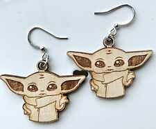 Baby Yoda - The Child - Mandalorian - Wooden Earrings