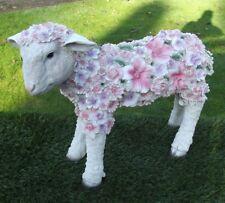 Lustige bunte Schafsbock farbige Schafe Woll Schaf Figur Deko Garten Türdeko