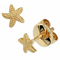 Damen Ohrstecker Seestern 585 Gold Gelbgold Ohrringe Goldohrringe Goldohrstecker