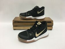 Nike Kyrie 3 PS III Basketball Shoes Black Gum 869985-092 Preschool (PS)