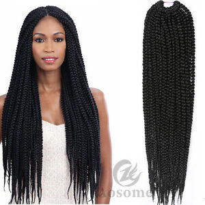 18'' Senegal Twist Box Braids Synthetic 3X Twist Braiding Crochet Hair Extension
