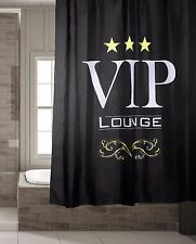 Dekorativer edler Duschvorhang VIP ca. 180 x 180cm Badezimmer Deko