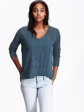 L V-Neck Thin Knit Regular Size Sweaters for Women