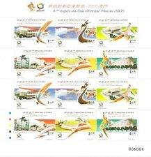 MACAO-CHINA -2005-4th. EAST ASIA GAMES-M/SHEET-12 stamps-(6X2)