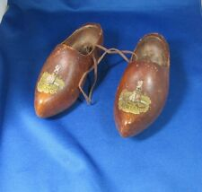 Antique Pair Holland Wooden Shoes Clogs, Handmade, Vintage, Free Shipping