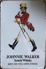 JOHNNIE WALKER  Rustic Look Vintage Tin Metal Sign Man Cave, Shed-Garage & Bar
