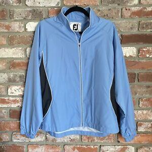Footjoy FG Womens Golf Lightweight Windbreaker Jacket M Blue Black Private Logo