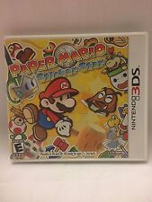 Nintendo 3DS 3 DS Paper Mario Sticker Star Game Case Manual Mint 2D 3D