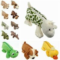 Cartoon Animal Plush Pencil-case Pen Holder Fluffy Makeup Bag Coin Zipper Pouch