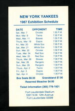 New York Yankees--1987 Spring Training Pocket Schedule--Aloha Travel