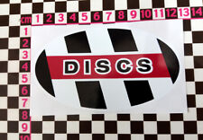 Vintage Style Scooter Oval Discs Sticker - Vespa Lambretta ISO