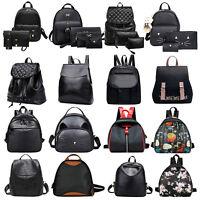 Women Backpack Travel PU Leather Girl Handbag Bags Rucksack Shoulder School Bag