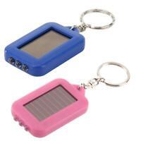 Portable Keychain LED Flashlight Solar Power Light Torch Outdoor Security Lamp