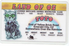 Toto , Dorothy 's Dog Land of Oz novelty card Drivers License Wizard w w denslow