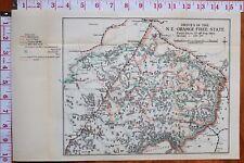 BOER WAR ERA MAP/BATTLE PLAN DRIVES IN NORTH EAST ORANGE FREE STATE FEB 1902
