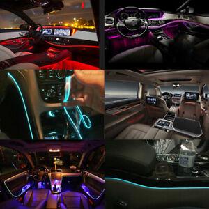 8M RGB LED Car Interior Light Fiber Optic Neon Wire Strip Atmosphere APP Control