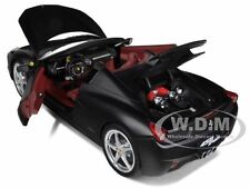 FERRARI 458 ITALIA SPIDER MATT BLACK ELITE EDITION 1/18 MODEL HOTWHEELS X5485