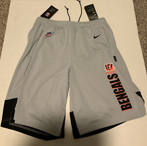 Men's Nike Cincinnati Bengals Player Knit Dry Shorts Men's Size: Medium NWT Gray