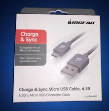 Lot Of 50 IOGEAR GUMU02 CHARGE & SYNC CABLE, 6.5FT (2M) - USB TO MICRO USB CABLE
