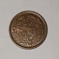 Unc 1/2 Cent 1936 Niederlande Prägefrisch Stempelglanz Netherlands