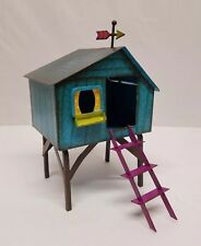 New listing Hand Painted Folksy Tree House for Miniature Fairy Garden New
