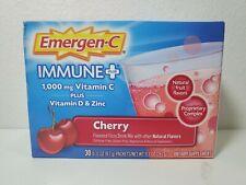 Emergen-C Immune PLUS Vitamin D & Zinc EXP 05/22 CHERRY *NEW*