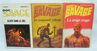 DOC SAVAGE Lot de 3 livres Pocket Marabout n°19, 30 & 31 1970/73 Kenneth ROBESON