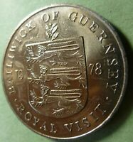 Bailiwick of Guernsey 1978 twenty five Pence Royal Visit Coin Elizabeth II  #78G