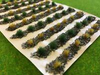 Farm Crops x10 Set 06 - Model Railway Static Grass Tufts Garden Allotment Field