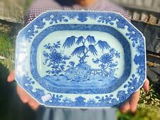 Kangxi Qianlong Chinese Antique Porcelain Blue And White Plate 18th Century